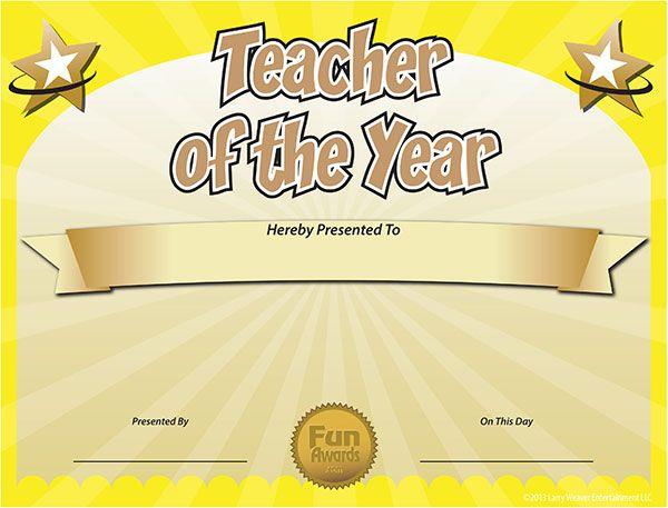 Free Printable Certificates - Funny Printable Certificates In Best Teacher Certificate Templates