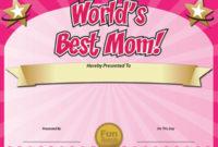 Free Printable Certificates – Funny Printable Certificates inside 9 Worlds Best Mom Certificate Templates Free