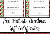 Free Printable Christmas Gift Certificates: 7 Designs, Pick for Best Valentine Gift Certificates Free 7 Designs