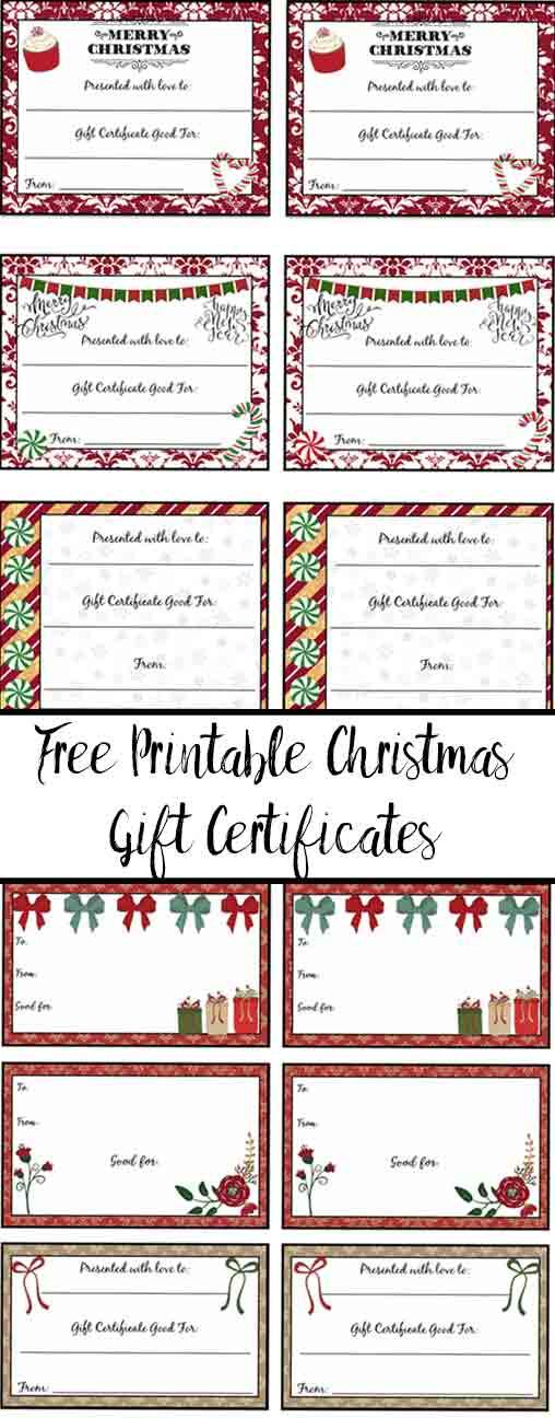 Free Printable Christmas Gift Certificates: 7 Designs, Pick In Free Printable Best Husband Certificate 7 Designs