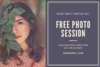 Free Printable, Custom Photography Gift Certificate inside Fresh Photography Session Gift Certificate