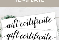 Free Printable Gift Certificate Template – Pjs And Paint regarding Fresh Birthday Gift Certificate Template Free 7 Ideas