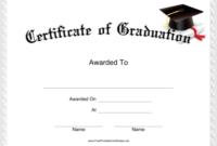 Free Printable Graduation Certificate Templates (2 in Best Grade Promotion Certificate Template Printable