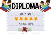 Free Printable Kindergarten Certificate Templates Pdf regarding 10 Kindergarten Diploma Certificate Templates Free