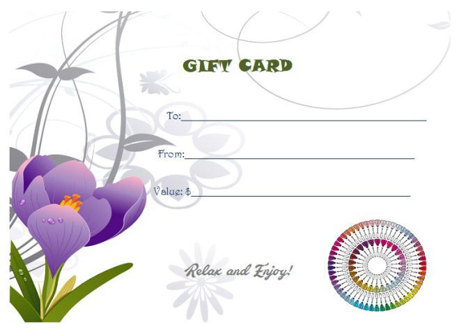 Free Printable Manicure Gift Certificate | Printable Gift Within Free Printable Manicure Gift Certificate Template