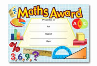 Free Printable Math Certificates Inspirational Certificate with regard to Fresh Math Award Certificate Template