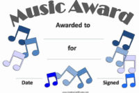 Free Printable Music Certificates Fresh Free Editable Music with Best Piano Certificate Template Free Printable