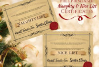 Free Printable Naughty And Nice List Certificates ⋆ The regarding Best Free 9 Naughty List Certificate Templates