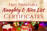 Free Printable Naughty And Nice List Certificates ⋆ The throughout Free 9 Naughty List Certificate Templates