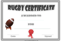 Free Printable Rugby Award Certificate with regard to Rugby Certificate Template