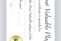 Free Printable Sports Certificate: Basketball Mvp pertaining to Unique Basketball Mvp Certificate Template