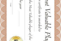Free Printable Sports Certificate | Mvp Basketball Award throughout Unique Basketball Mvp Certificate Template