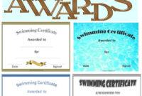 Free Printable Swimming Certificates And Awards   Swimming regarding Best Swimming Achievement Certificate Free Printable