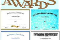 Free Printable Swimming Certificates And Awards   Swimming with regard to Best Swimming Achievement Certificate Free Printable