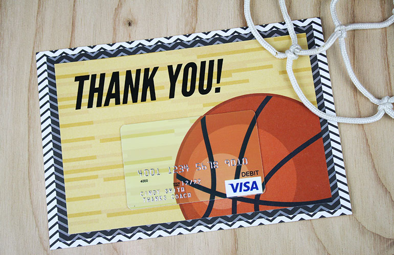 Free Printable} This Basketball Gift Is A Slam Dunk | Gcg Regarding Fresh Basketball Gift Certificate Template