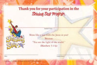 Free Printable Vbs Certificates Templates | Garden | School for Vbs Attendance Certificate Template