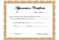Free Retirement Certificate Of Appreciation Template 2 In for Free Retirement Certificate Templates For Word