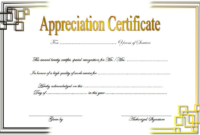 Free Retirement Certificate Of Appreciation Template 3 In with Donation Certificate Template Free 14 Awards