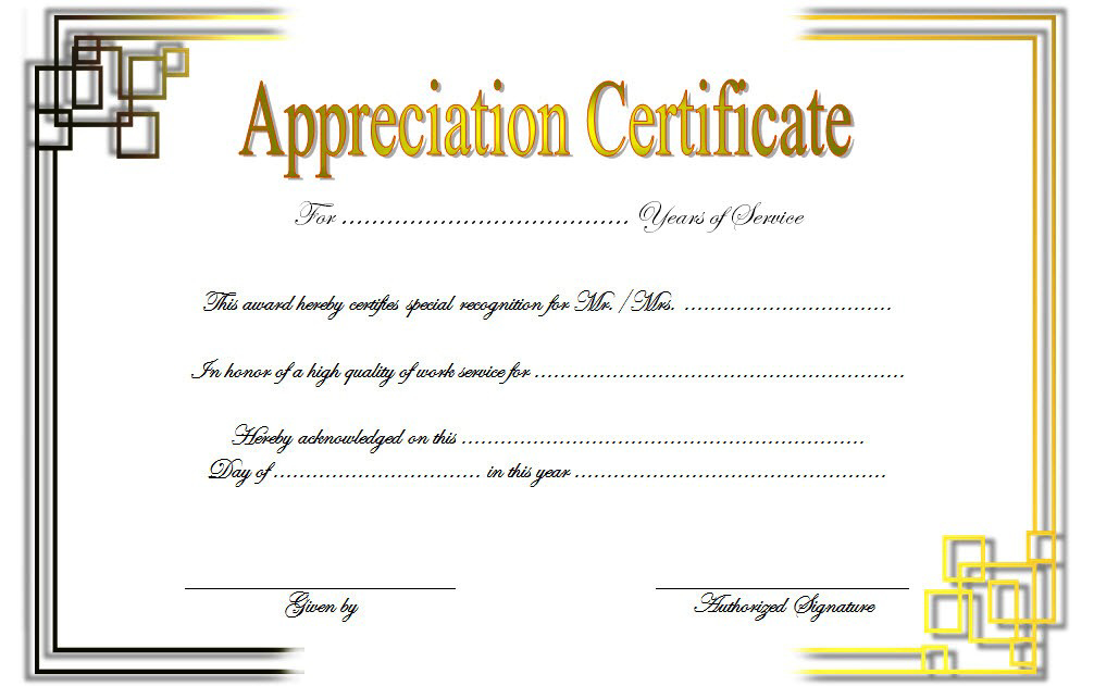 Free Retirement Certificate Of Appreciation Template 3 In with Unique Free Retirement Certificate Templates For Word