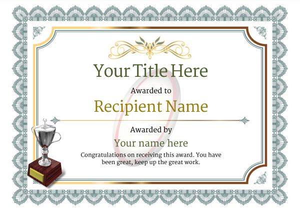 Free Rugby Certificate Templates - Add Printable Badges & Medals For Best Rugby Certificate Template