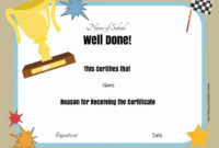 Free School Certificates & Awards   Free Certificate with Best Job Well Done Certificate Template 8 Funny Concepts