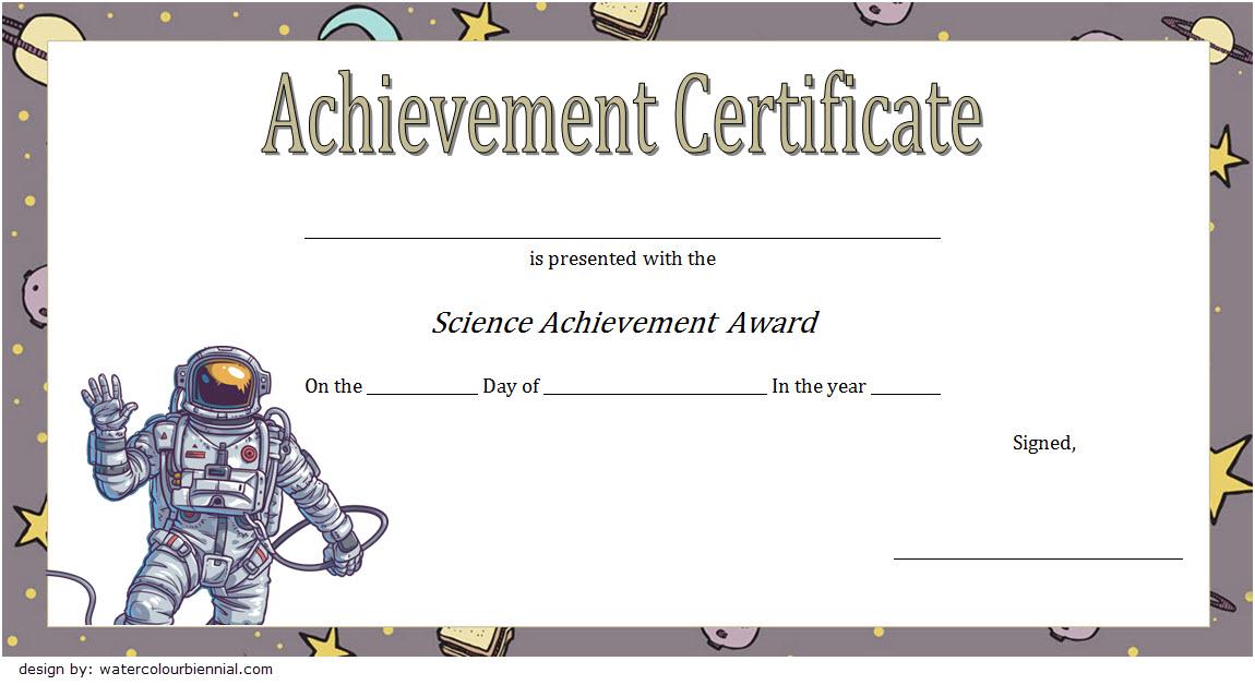 Free Science Certificate Of Achievement Template 2 In 2020 For Unique Science Achievement Certificate Template Ideas
