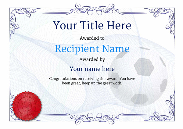 Free Soccer Certificate Templates - Add Printable Badges Throughout Soccer Certificate Template Free