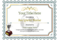 Free Soccer Certificate Templates – Add Printable Badges with regard to Unique Soccer Achievement Certificate Template