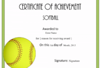 Free Softball Certificate Templates – Customize Online intended for Player Of The Day Certificate Template Free