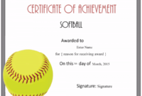 Free Softball Certificate Templates – Customize Online regarding Printable Softball Certificate Templates