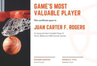 Free Sport Certificates Templates To Customize | Canva in Basketball Mvp Certificate Template