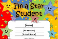 Free Star Awards | Templates Certificates Star Student intended for Best Star Student Certificate Template