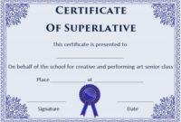 Free Superlative Certificate Templates | Certificate throughout Fresh Superlative Certificate Templates