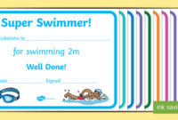 Free! – Swimming Certificate Templates – Physical Education for Best Swimming Achievement Certificate Free Printable