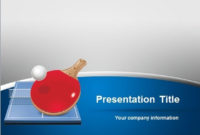 Free Table Tennis Powerpoint Template regarding Table Tennis Certificate Templates Free 10 Designs