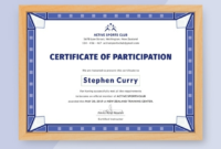 Free Templates For Certificates Of Participation (7 for Fresh Physical Fitness Certificate Template 7 Ideas