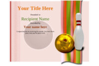 Free Ten Pin Bowling Certificate Templates Inc Printable pertaining to Unique Bowling Certificate Template