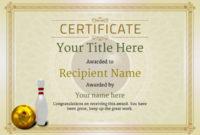 Free Ten Pin Bowling Certificate Templates Inc Printable within Bowling Certificate Template