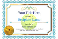Free Tennis Certificate Templates – Add Printable Badges for Table Tennis Certificate Template Free