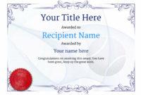 Free Tennis Certificate Templates – Add Printable Badges pertaining to Table Tennis Certificate Template Free