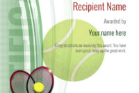 Free Tennis Certificate Templates – Add Printable Badges with regard to Best Tennis Certificate Template