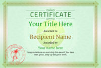 Free Tennis Certificate Templates – Add Printable Badges with regard to Fresh Tennis Achievement Certificate Templates