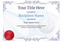 Free Tennis Certificate Templates – Add Printable Badges within Tennis Certificate Template