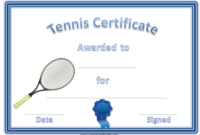Free Tennis Certificate Templates | Certificate Templates intended for Table Tennis Certificate Templates Editable