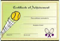 Free Tennis Certificates On Womens Tennis World | Gift with Unique Editable Tennis Certificates