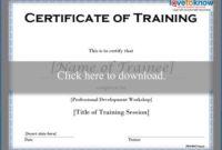 Free Training Certificate Templates | Lovetoknow regarding Unique Training Completion Certificate Template 10 Ideas