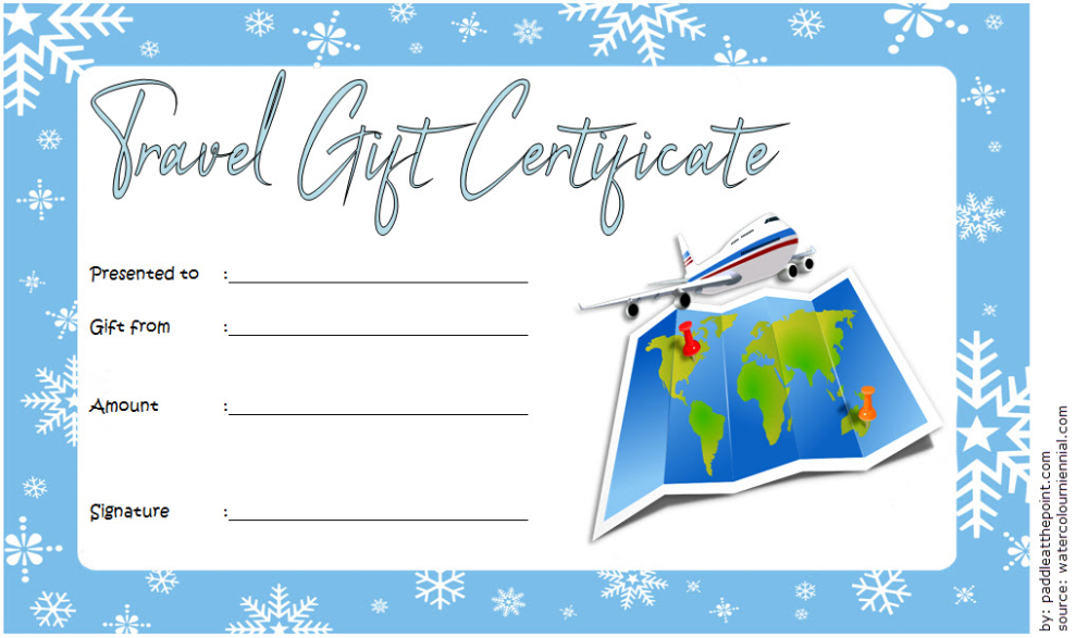 Free Travel Gift Certificate Template (1) - Templates with regard to Fresh Travel Gift Certificate Templates