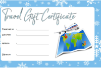 Free Travel Gift Certificate Template (1) – Templates with Travel Gift Certificate Editable