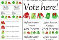 Free Ugly Sweater Printables For Your Party – The Country for Free Ugly Christmas Sweater Certificate Template