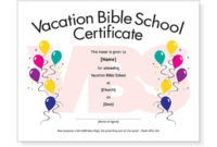 Free Vbs Attendance Certificate Template Download with Best Printable Vbs Certificates Free
